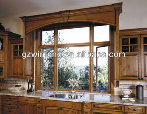 Aluminium cladding wood casement and fixed window with Europe design and high quality