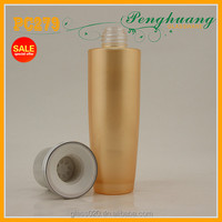 4oz frosted cosmetic bottle with silver cap and stopper