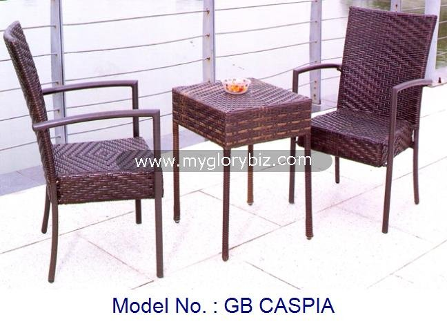 Garden Furniture Small Tea Table, Rattan Outdoor Small Coffee Table, Modern Design Synthetic Rattan Furniture