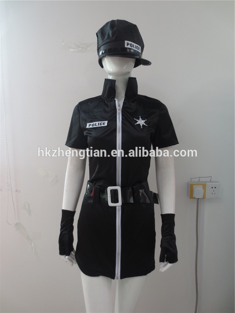 Hot walson China instyles 2015 disfraz clothes Ladies Police Cop Halloween Costume Sexy Outfit Woman Officer Sizeerotic ling