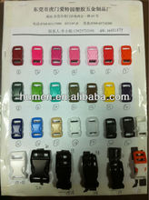 "3/8"" plastic pet collar buckles' color chat"