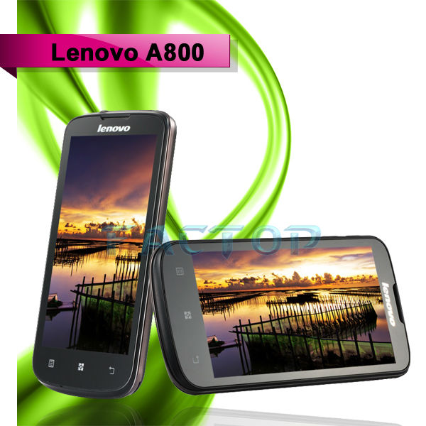 dual core china android smartphone lenovo a800 4.5 inch capacitive touch screen android 4.0