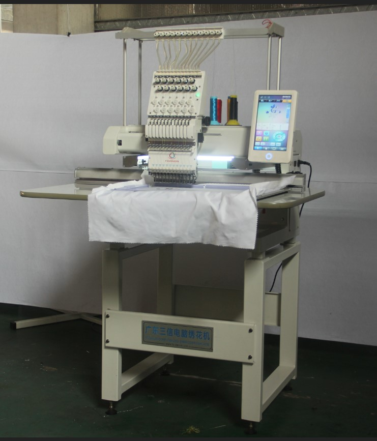 New model 12&15  needles single head  Cap&T-shirt embroidery machine with spare parts and service in good price