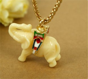 Imi jade elephant chain necklace