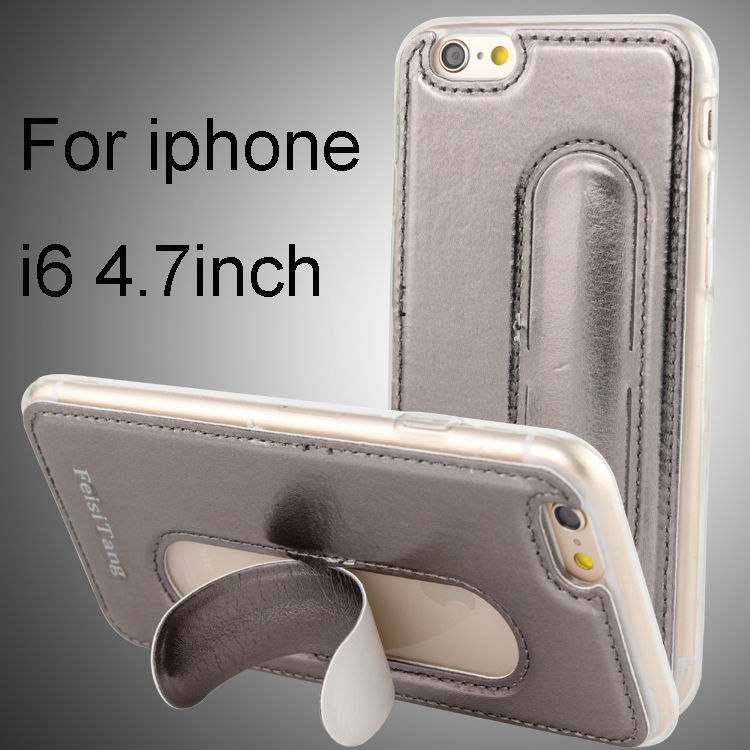 Stand PU leather phone case for iphone covers , cell phone cover for iphone 6