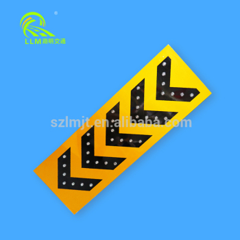 Flashing led solar traffic sign board highway signs traffic u-turn arrow sign