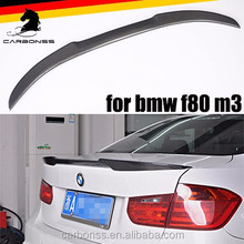 Auto V Type Rear Trunk Lip Carbon Fiber Spoiler for BMW F30 F80 M3 Model 4DR