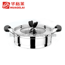 Hot selling non stick fry practical soup pot stainless steel pan for sale