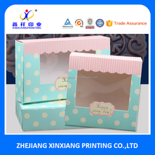 Food Packaging with Clear Window Moon Cake Packaging Boxes