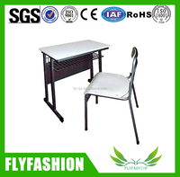 Hot sale school wooden single table/cheap classroom child study desk and chair