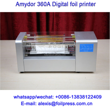 AMD360C digital gold foil stamping printer a time feed more sheets automatically, saving foil automatically