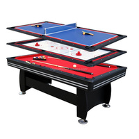 3 In 1 Indoor Sports Game Billiard Tables Pool Style W Ping Pong and Air Hockey Top