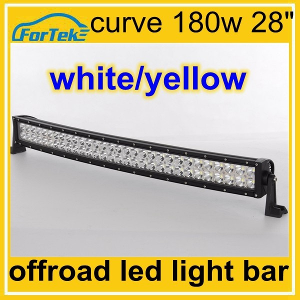 "auto color changing led curve bar light white/amber 28"" 180w Epistar"