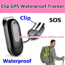 new gps/lbs real time mini gps locator with sos with geo-fence, waterproof, clip