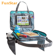 Detachable 4 in 1 Car Seat Travel Tray Kids Storage Organizer Carry Bag Tablet Holder Back Seat Snack Tray