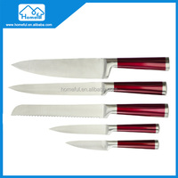Stainless steel color coating handle kitchen knife 5pcs knife