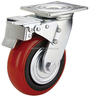 Korea style heavy duty caster wheel with brake and lock