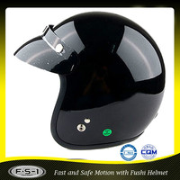 Black open face Japan style motorcycle accessories vintage helmet