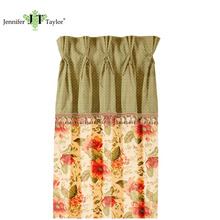 Popular colorful household fabric window curtain