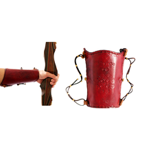 archery set tag real leather Protector arm Guard gloves for shooting and hunting