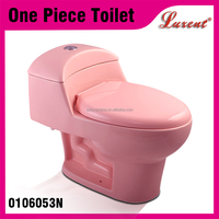 Most Popular Bathroom Toilet Commode One Piece WC Toilet Pink Color