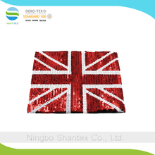 High quality Garment accessory the union jack pattern sequin patches