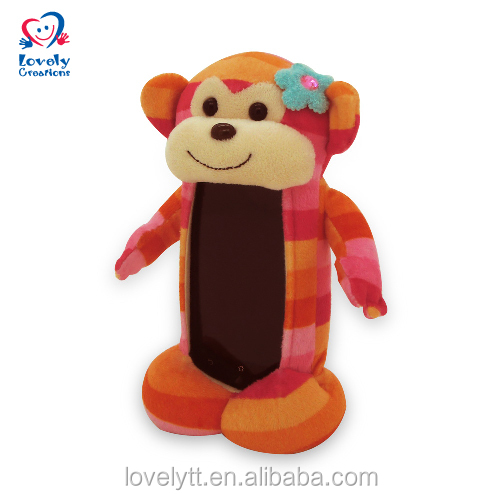 "8"" New Protect Mobile Phone Accessories Soft Monkey Toys Fabric Case For Kids"
