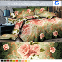 2016 indian wholesale printed bedding fabric 3d bedsheet