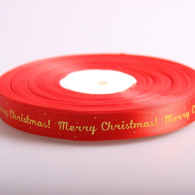 2016 fashion merry christmas celebrate it ribbon promotional colorful satin ribbon