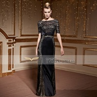Coniefox 30952 Brilliant Lace Column Celebrity Evening and Party Dresses Red Carpet