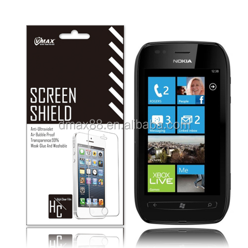 For Nokia lumia 710 screen protector oem/odm(Anti-Fingerprint)