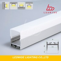 Big size lamp 2 series extrued aluminum led channel for linear led fixture strips lights