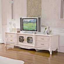 Luxury Latest Design Ivory hand carved wooden mdf led tv display stand design <strong>furniture</strong>