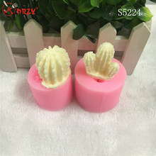 cactus silicone mold for fondant Fairy ball 3d silicone mold for cake decorating silicone soap mold