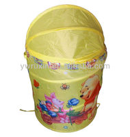 pop up printed kid's toy and clothes folding laundry box/folding clothes laundry hamper/folding cartoon laundry basket