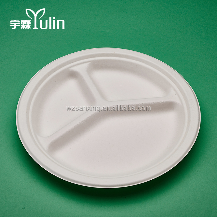 Water And Oil Resistant Disposable Bamboo Cheap Wholesale Dinner Plates