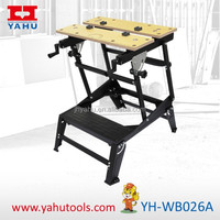 6 Position Height Adjustable Woodworking Bench With Bench Vise