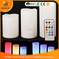 New 18 key led candle decoration color change timing candle led wax candle