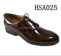 point toe british design high shining leather men dress shoes in borwn