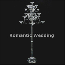 21 arms clear tall crystal wedding candelabra lead road wedding centerpiece for Wedding decorations event party decorations
