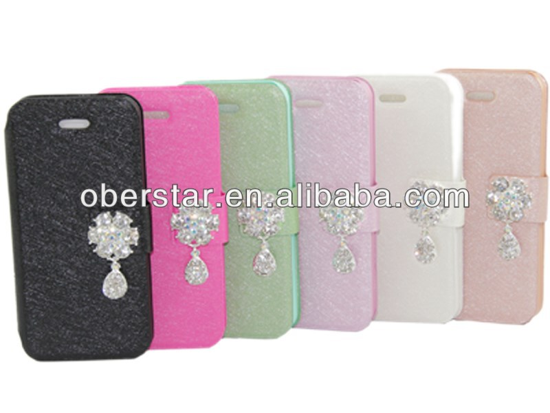 Camellia Silk Pattern flip PU Leather Wallet stand Case Cover For Samsung Galaxy note2