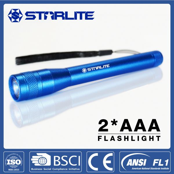 STARLITE small size blue new led torch flashlight hand light