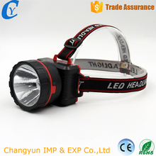 Best Selling China Cheap Plastic LED Flashlight Headlamp of Dry Battery
