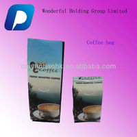 Hong Kong coffee packaging bags with valves/side gusset coffee bags HK with valves