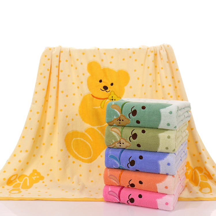 OEM service 100% organic cotton fiber baby hooded towel blanket bath towel