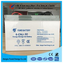 High quality deep cycle lead acid 12v 90ah solar battery with best prices
