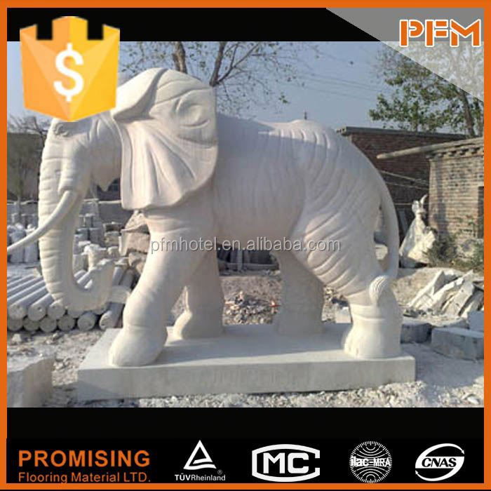 European style stone elephant sculpture for garden and home decoration