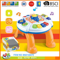ABS plastic intelligent musical learning table baby desk toys