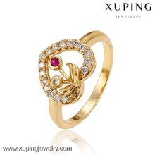 13011 xuping 2017 Hot selling 18k gold color golden ring