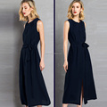 OEM fashion latest ladies summer dress , wholesale long maxi chiffon western woman dress